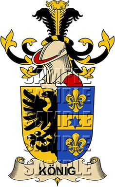 Konig Family Crest apparel, Konig Coat of Arms gifts