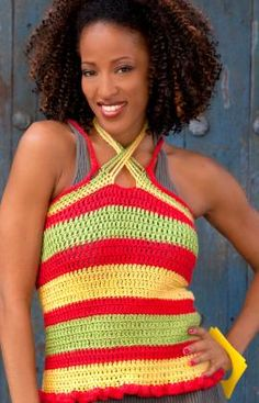 Summer Striped Top Crochet Pattern