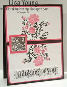 Fresh Vintage in rose and expresso by genesis - Cards and Paper Crafts at Splitcoaststampers