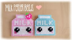 Kawaii Milk Perler Bead Crafting Tutorial - YouTube