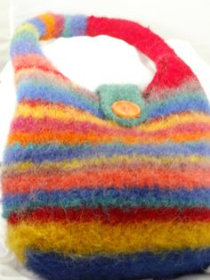 Colorful Felted Handbag by timetalentjewels on Etsy, $25.00