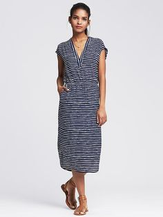 Striped Vee Patio Dress - love this for summer!!