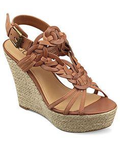 GUESS Womens Shoes, Lingley Platform Wedge Sandals - Espadrilles & Wedges - Shoes - Macys