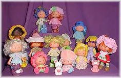 The original Strawberry Shortcake dolls! Apricot and her bunny were the best, of course.