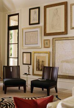 art arrangement | gallery wall | salon wall Interior Decorating, Interior Design, Interior Exterior, Home Decor Inspiration, Decoration, Vintage Modern, Living Spaces, Foyer, Wall Decor