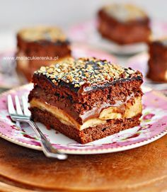 Ciasto z bananami i czekoladą Cake Cookies, Cupcake Cakes, Cupcakes, Slovak Recipes, Polish Recipes, Polish Food, Dessert Bars, No Bake Cake, Delicious Desserts