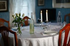 Dining Room before re-opening Stavanger, Norway, Dining Room, Candles, Home, Ad Home, Candy, Homes, Candle Sticks