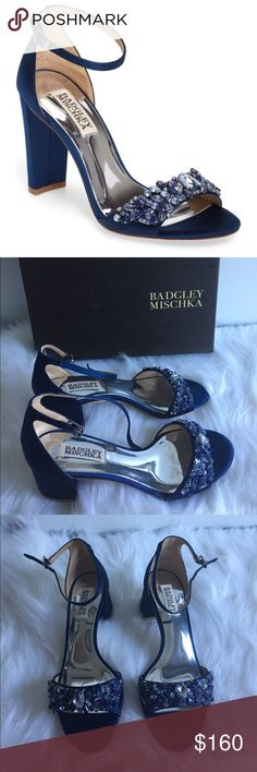 NWB Badgley Mischka Bellisma open toed shoes 7.5 Brand new, never been used shoes by Badgley Mischka women shoe size 7.5!  It comes with the box!  Absolutely, drop dead gorgeous shoes!  Perfect for a wedding or holiday parties that are coming up!  Bling bling in these beautiful shoes! Badgley Mischka Shoes Heels
