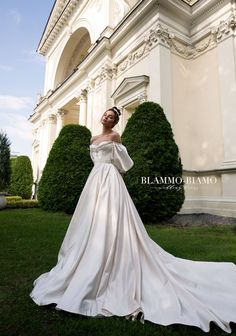 Wedding dress MEDEA with long train by BLAMMO-BIAMO Princess wedding dress Luxury wedding dress wedding