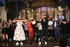 Saturday Night Live Completes Season As Top Rated Entertainment Show on Television   Vanity Fair Floral Gown, White Floral Dress, The Face Magazine, Gucci Gown, Fashion Silhouette, Off White Dresses, Best Mens Fashion, Men's Fashion, Kid Cudi