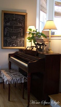 DIY piano bench slipcover