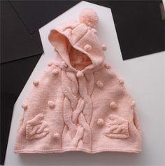Babies Knitting Patterns Cape Pattern