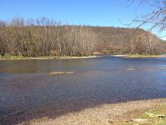 Early afternoon on the Allegheny River near Tionesta, Pa., April 2012
