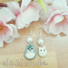 Totoro earrings | We Heart It