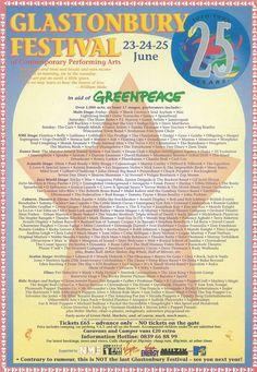 Glastonbury Festival 1995 Poster