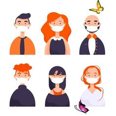 Download People Wearing Medical Mask Illustrated for free People wearing medical mask illustrated. Download for free at freepik.com! #Freepik #freevector #people #medical #world #health<br> Discover thousands of free-copyright vectors on Freepik Graphic Design Templates, Wuhan, Medical, Character Design, Drawings, Free People, Health, Disney Characters, Fictional Characters