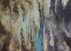 Beach Eastern Cape. (Dyptych) Mixed media and encaustic on board. 50cm x 30 cm x 4cm deep  R 1000.00 http://artbyjaneknight.weebly.com/