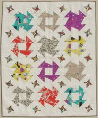 The Walrus Quilt Pattern by Abbey Lane Quilts at KayeWood.com. The Walrus used a whacky butter churn block and fun, funky fabrics to make this quilt a new, modern classic. http://www.kayewood.com/item/Walrus_Quilt_Pattern/2987 $9.50