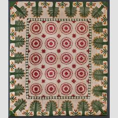 Rising Star Variation Quilt, Elsey A. Halstead (1830–1850)  Minisink, New York, United States  Date: March 23, 1848