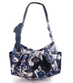 Simply Vera by Vera Wang Blue White Floral Handbag   http://stores.ebay.com/theanothercorner/