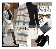 """""""Jennifer Lawrence"""" by goreti ❤ liked on Polyvore featuring Chloé, Rumour London, Giuseppe Zanotti, Ray-Ban, GetTheLook and celebstyle"""