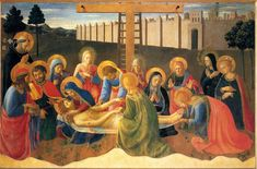 Fra Angelico : Lamentation over Christ (Museo di San Marco - Florence  (Italy - Florence)) 1390/1395 - 1455 フラ・アンジェリコ
