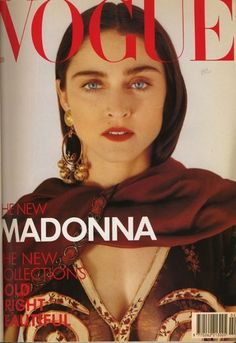 Madonna on the cover of Vogue