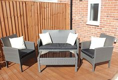 This beautiful indoor/outdoor all weather rattan lounge suite is low maintenance and easy to clean. It is crafted from the highest quality PE rattan and is weather and UV resistant. Unlike traditional wicker furniture it is not prone to cracking or fading. This lightweight but sturdy set has been specially designed to last in our climate and is perfect for indoor and outdoor usage.     Please note we do not ship to theses destinations:  Channel Islands   Isle of Man   Isle of Wight  Scottish…