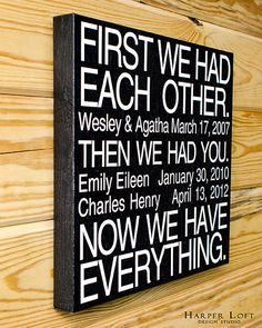 Now We Have Everything Family Canvas Wall Art