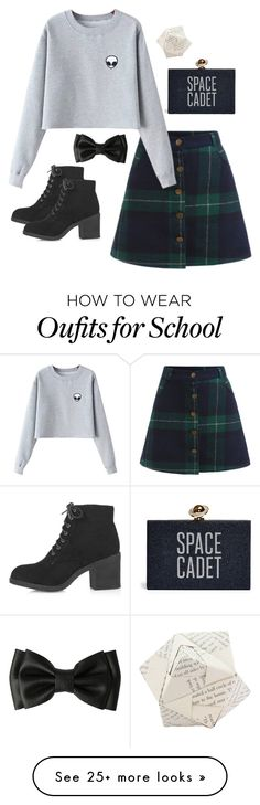 """School Grunge"" by swimsinger on Polyvore featuring Chicnova Fashion, Topshop and Dot & Bo"