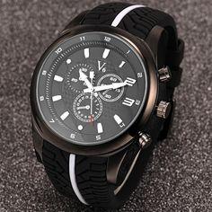 $8.41 (Buy here: https://alitems.com/g/1e8d114494ebda23ff8b16525dc3e8/?i=5&ulp=https%3A%2F%2Fwww.aliexpress.com%2Fitem%2FNew-2016-Top-Brand-Men-s-Watch-Tire-Pattern-Men-Date-Clock-Men-Casual-Quartz-Watch%2F32607223912.html ) FANALA 2017 Men's Watch Tire Pattern Men Date Clock Men Casual Quartz Watch Silicone Wrist Sports Watches Military $k for just $8.41