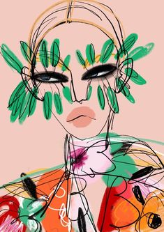 The Official Anjelica Roselyn website. Art Sketches, Art Drawings, Arte Sketchbook, Funky Art, Fashion Painting, Aesthetic Art, Collage Art, Pop Art, Art Projects