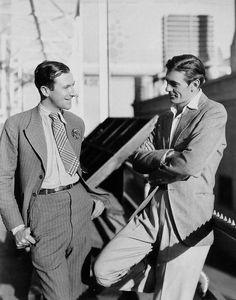 Gary Cooper being admired by British photographer Cecil Beaton, 1931. Sir Cecil not only photographed Cooper, but claimed to have had an affair with him as well.