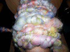 Corriedale, milk fiber  & lurex thread