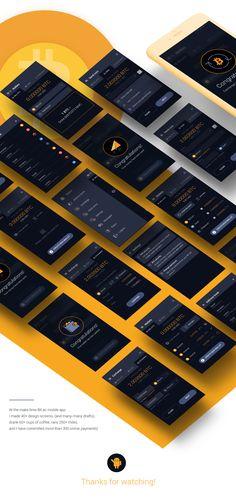 Bit.ac mobile app on Behance