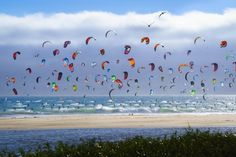 Interesting Photo of the Day: Kiteboarding Bonanza - http://thedreamwithinpictures.com/blog/interesting-photo-of-the-day-kiteboarding-bonanza