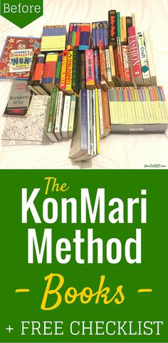 The KonMari Method -- Books. Before and after pics, from a bookworm. ;) AND a free KonMari Checklist PDF. So handy!