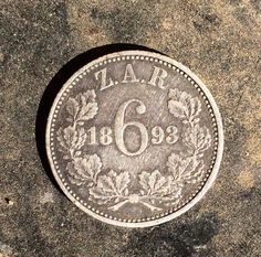 1893 ZAR coin South Africa Old Coins, African History, Afrikaans, Good To Know, South Africa, Collections, Jewellery, Personalized Items, Coins