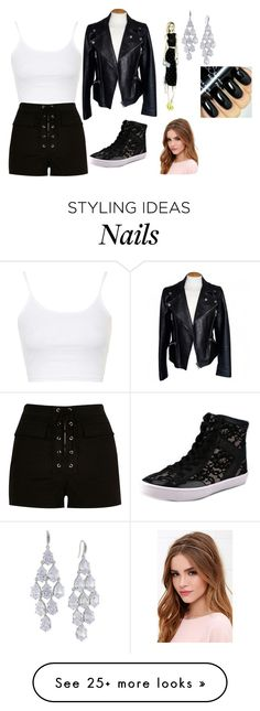 """Sin título #2153"" by aiag on Polyvore featuring Topshop, River Island, Rebecca Minkoff, Alexander McQueen, Carolee, Lulu*s, women's clothing, women, female and woman"