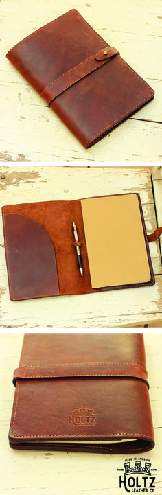 The Inventor Fine Leather Journal Padfolio is handmade right here in our shop with the finest of Full Grain American leathers. We hand pick our leather hides from a local tannery ~ for a rustic look and feel. Leather Art, Leather Books, Leather Notebook, Leather Journal, Leather Design, Leather Tooling, Leather Hides, Leather Wallet, Leather Purses