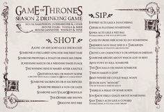 game of thrones drinking game warp zone