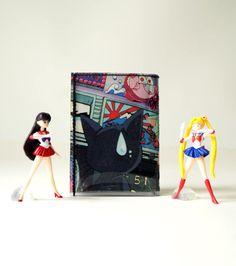 SAILOR MOON & LUNA Portemonnaie Manga upcycling Unikat! Geldbörse, Brieftasche, Geldbeutel Sailor Moon Comic wallet handmade in Berlin von PauwPauw auf Etsy
