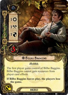 Fantasy Flight Games [News] - Something Tookish Woke Up Trading Card Template, Trading Cards, Player Card, Bilbo Baggins, Jrr Tolkien, Tabletop Games, Middle Earth, Lord Of The Rings, Lotr