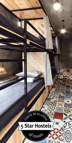 Memory Hostel in Da Nang – Fire-spitting Dragon and Million Tiles… - home/dekor Bunk Rooms, Bunk Beds, Hostels, Capsule Hotel, Bunk Bed Designs, Dormitory, Da Nang, Interior Design Living Room, Architecture Design