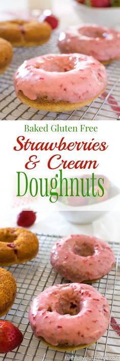 These Baked Gluten Free Strawberry Doughnuts, naturally flavoured with sweet, juicy berries, will satisfy even the worst doughnut craving!