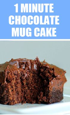 """One Minute"" Chocolate Cake - This is my go-to recipe, from @choccoveredkt - It is super easy, & really fudgy and gooey http://chocolatecoveredkatie.com/2011/11/06/one-minute-chocolate-cake/"