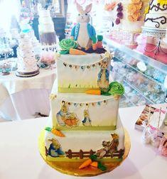 Peter rabbit baby shower cake#carinaedolce www.carinaedolce www.facebook.com/carinaedolce Rabbit Baby, Peter Rabbit, Baby Shower Cakes, Facebook, Children, Boys, Kids, Big Kids, Children's Comics