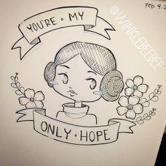 winklebeebee-art:Little Leia.
