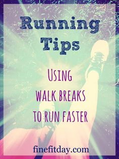 How to use walk breaks to run faster - great running tips on using the walk run method! Find out how to use this method to improve your times.