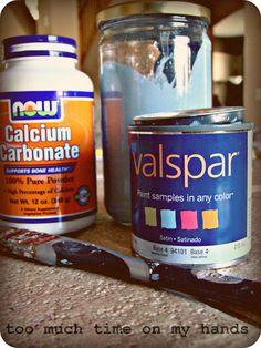 chalk paint recipe using calicum carbonate